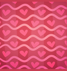 pink hearts background decoration for valentines vector image