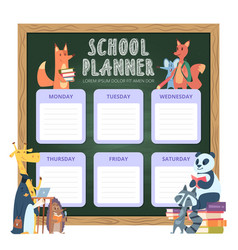 planner for kids school personal list vector image