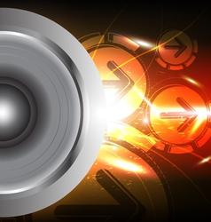 Power of sound from speaker vector