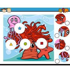 Preschool education cartoon game vector