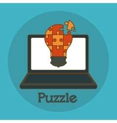 Puzzle icon design vector image