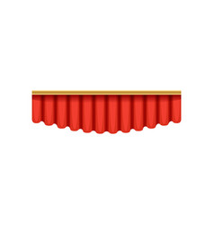 red silk pelmets for theater vector image