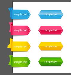 Ribbon list of options vector