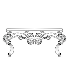 Rich Baroque Table French Luxury carved vector image