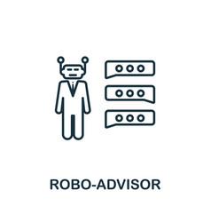 Robo-advisor outline icon thin line concept vector