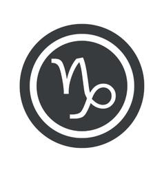 Round black Capricorn sign vector