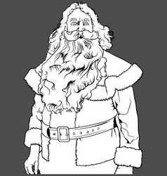 Santa claus without hat vector