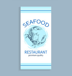 seafood menu for restaurant premium quality vector image