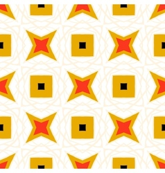 Seamless pattern with bold geometric shapes vector