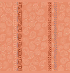 Seamless pattern with paisley vector