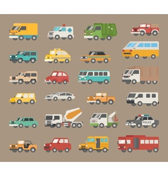 Set of car icon vector image