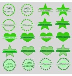 set of organic and natural labels vector image