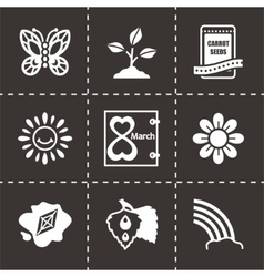 Spring icon set vector image