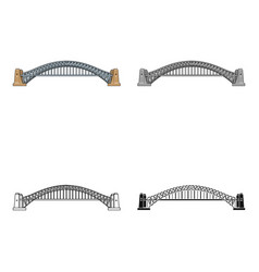 sydney harbour bridge icon in cartoon style vector image