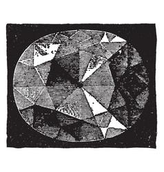 The kohinoor diamond distinguished vintage vector