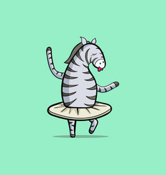 the zebra is dancing vector image