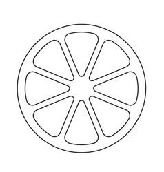 tomato cut black and white icon vector image
