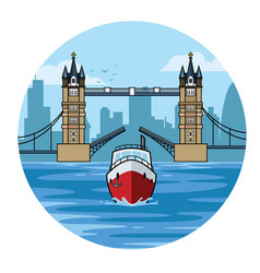 tower bridge of london vector image