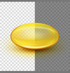 Translucent soft gel capsule eps 10 vector