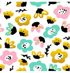 trendy flower seamless pattern vector image
