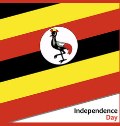 Uganda independence day vector