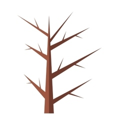 Winter tree flat icon vector image