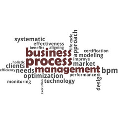 Word cloud - business process management vector
