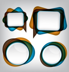 Abstract bubble speech background vector image