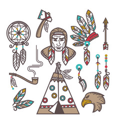 indian items set vector image