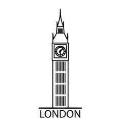 london big ben linear vector image