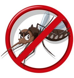 Mosquito control sign on white background vector image vector image