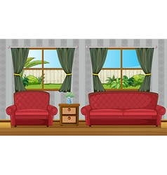 A sofaset and side table vector image vector image