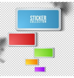 Sticker collection vector image vector image