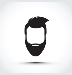 an icon of a face vector image