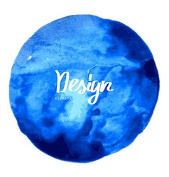Art watercolor blue circle vector