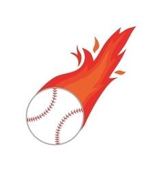 ball fire baseball icon isolated vector image