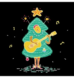 Christmas tree costume vector image vector image