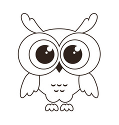 cute owl icon isolated on white vector image vector image