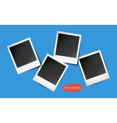 Four Photo Frames with shadows vector image