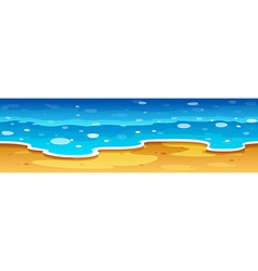 Ocean view with beach vector image