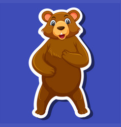 a bear sticker character vector image