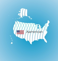 Aamerican map image inspired by The waves of the vector