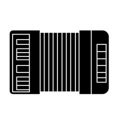 accordion icon black sign on vector image