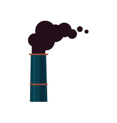 an isolated icon or symbol a factory smoking vector image