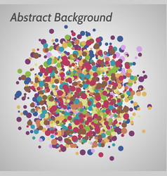 background with irregular circles vector image