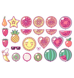 balloons set fruit party vector image