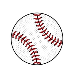 Baseball ball sign colored vector