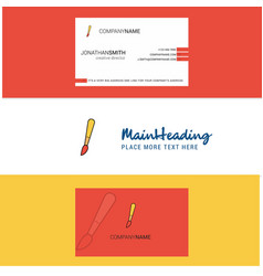 beautiful paint brush logo and business card vector image