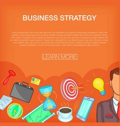 Business strategy concept cartoon style vector