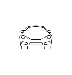 Car icon automobile symbol graphics vector